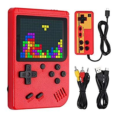Retro Game Console Support Connect TV and 2 Players with Gamepad 3 Inch Handheld Game Console with 390 FC Games 1020mAh Rechargeable Retro Video Game Console with AV Cable as Gift Etc