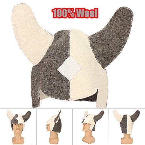 100% wol vilt viking sauna hoed zacht comfortabel hoofd haar beschermen tegen stoom kamer oververhitting