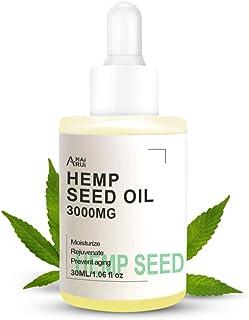 Hemp Seed Facial Oil, Natural & Organic Face Moisturizer, Cannabis Beauty Oil for All Skin Types, Carrier Oil for Face, Ne...