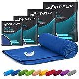 Fit-Flip Toallas de Microfibra – 15 Colores, 6 tamaños – compacta y de Secado rápido – Microfibra Toalla Toalla Fitness Gimnasio y Toalla Microfibra Playa (60x120cm - Azul Oscuro)