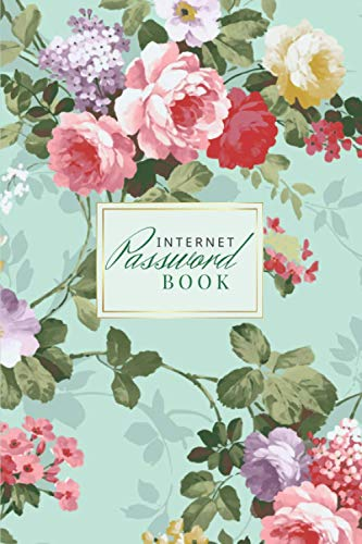 Internet Password Book: The Personal Online Account Keeper with A - Z Taps - Beautiful Roses Theme