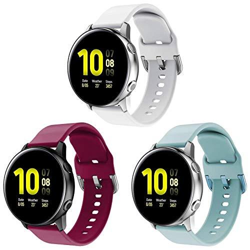 kitway Correa Compatible Galaxy Watch Active/Active2/Galaxy Watch 42mm/Gear S2 Classic, Silicona Replacement Correa para Galaxy Watch Active (40mm)/Active 2 40mm 44mm/Galaxy Watch 3 41mm Smart Watch