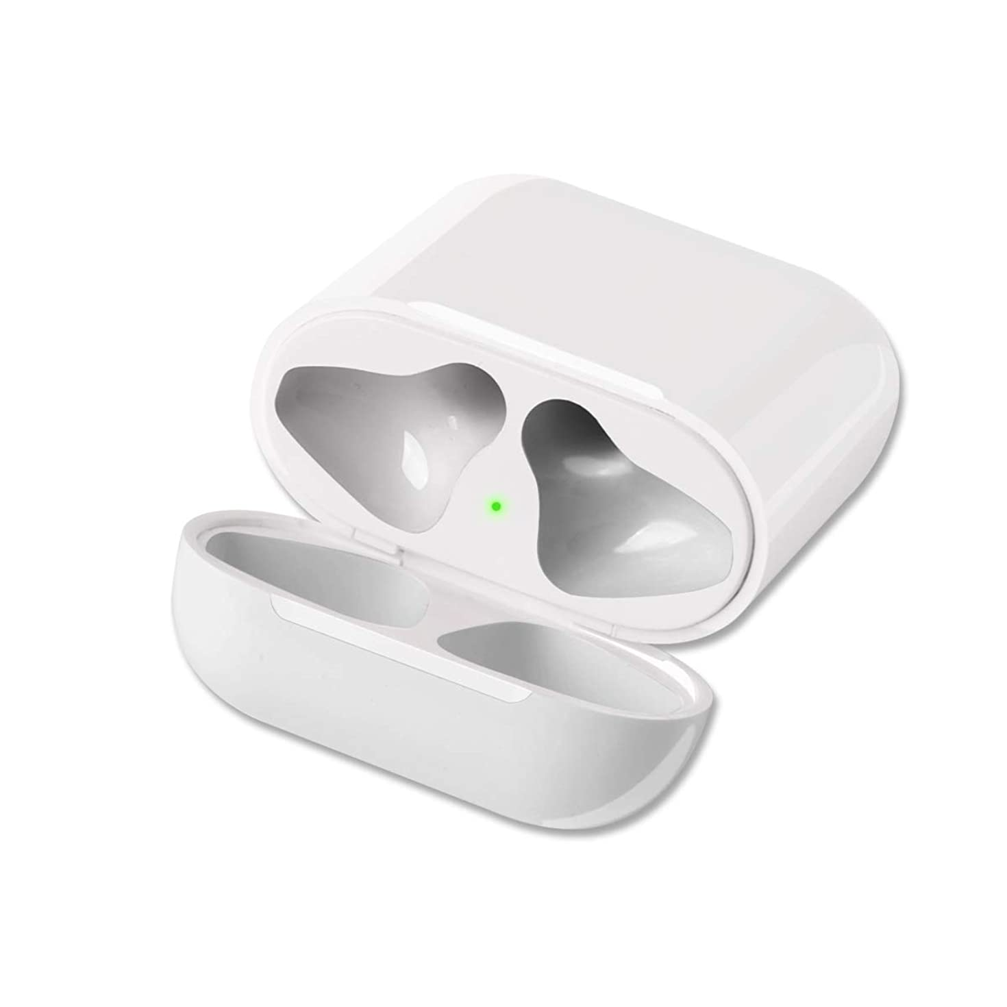 GreenCasty Airpod Charging Case Airpod Charger Adapter Compatible with airpods Headphones Wireless Charging Case Replacement for Air Pods Accessories 15 Minutes Fast Charging (White, No Sync Button)