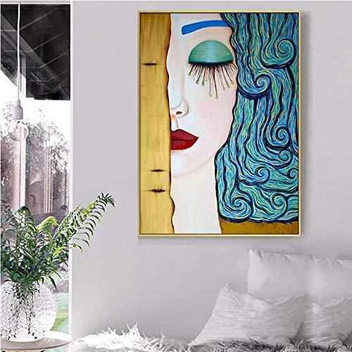 N / A Pintura sin Marco Artista clásica Mujer Abstracta
