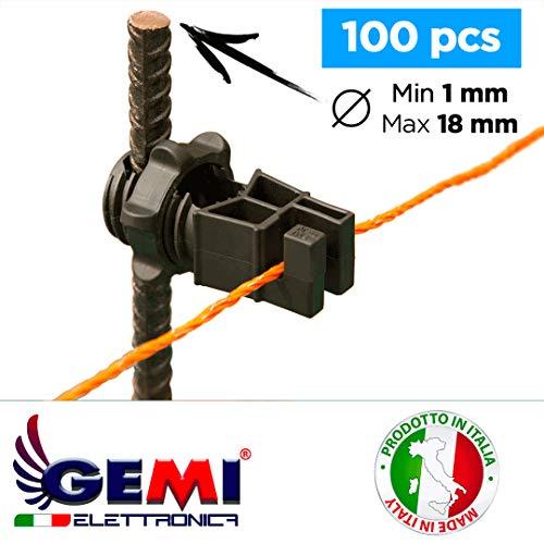 Aisladores para postes de Hierro para Pastor eléctrico Cerca eléctrica Gemi Elettronica...