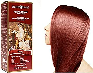 Surya Henna Copper Cream - 2.31 oz. (70 ml) (Pack of 2)