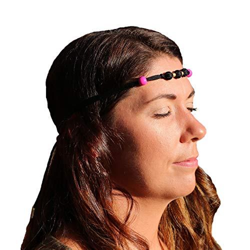 Hema-tiesTM – La diadema de acupresión original y mejor con hematita. Herramienta de alivio natural para tu estrés/dolor/ansiedad/dolores de cabeza/migraña/náuseas + #1 ayuda para yoga, meditación y enfoque