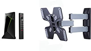 Nvidia Shield TV Pro, Procesador con Control Remoto, Chrome, Negro + Amazon Basics - Soporte de Pared Movimiento Completo ...