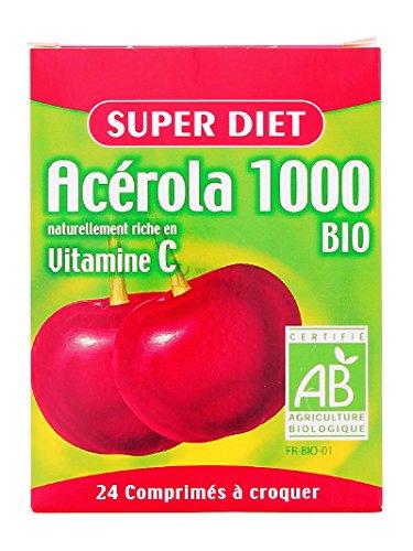 Super Diet - Acérola 1000 bio - 2 tubes de 12 comprimés