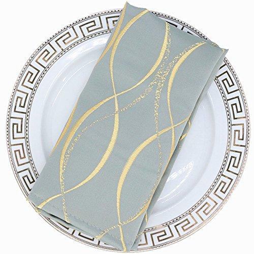 ZHFC european style tissu tissu hôtel restaurant banquet tissu tissu tissu repliement repas repas mat serviette et tissu 46 * 46cm 1 bloc,lansing encre verte