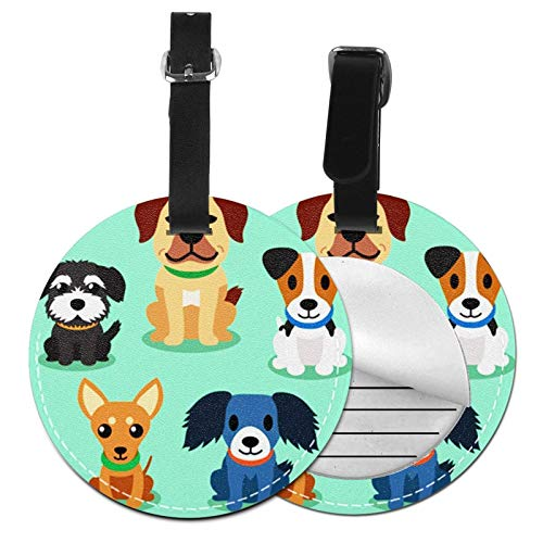 Luggage Tags Sit Dogs Suitcase Luggage Tags Business Card Holder Travel Id Bag Tag