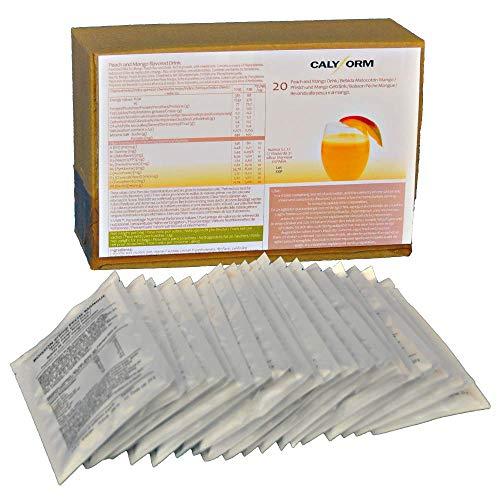 CALYFORM Batidos Proteínas para dieta sabor Melocotón y Mango Bebida proteica en polvo  100% saciante  Proteína dietética de calidad y aporte en aminoácidos esenciales (20 Sobres)