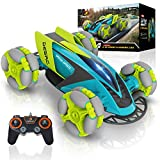 Remote Control Car for Kids - Music Light Up RC Car Double Sided Fast Off-Road Stunt RC Toy Car, 360 Flips and Spins, All Terrain Rechargeable LED Drifting RC Crawler with Remote and USB Cord