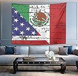 NiYoung USA Mexico Flag Wall T...