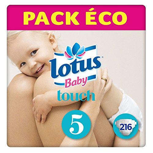 Lotus BabyTouch - Couche Taille 5 (12-22 kg) Pack économique (216 couches)