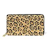 Piel De Jaguar Estampado Leopardo Billetera Mujer Cremallera Billetera de Cuero Cartera Teléfono Tarjeta de Credito Delgada Tarjetero para Chica Hombre
