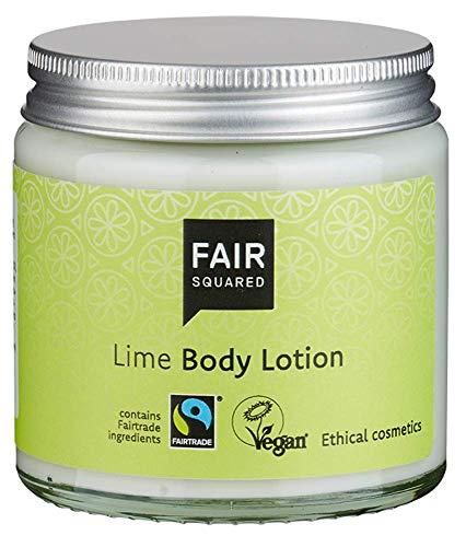 FAIR SQUARED Body Lotion Lime 100 ml Körperlotion Limette - Erfrischende Hautpflege mit Fairtrade-Limette - ZERO WASTE - zertifizierte Naturkosmetik