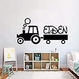Pegatinas De Pared Vinilo Infantil Tractor Vinilo 111 * 57Cm