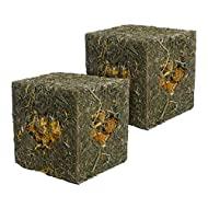 Rosewood Naturals I Love Hay Forage Cube Treat and Toy for Small Animals, Medium, 2 Pack