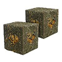 A fun to chew and destroy meadow hay coated forage treat and toy Filled with meadow hay and marigold flowers For rabbits, guinea pigs, chinchillas, degus. Hamsters, mice and gerbils can even nest inside it! With heart-shaped windows for pets to open ...