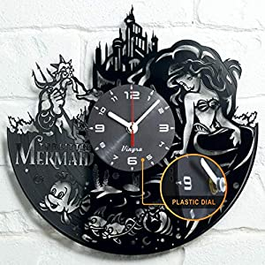 ✅ REAL SURPRISE for Disney Little Mermaid Ariel fans! Surprise 🎁 your loved ones with an original present! This useful and functional non-ordinary clock is really worth to be the gift for you 😍 ✅ VINTAGE & INNOVATION - the clock is handcrafted in Eur...
