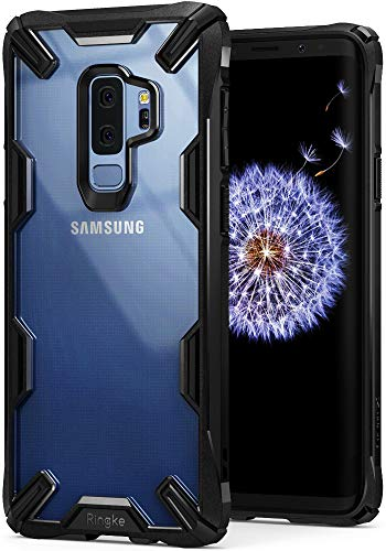 Ringke Cover Galaxy S9 Plus [Fusion-X] Trasparente [Caduta Militare di Difesa Testati] PC sul Paraurti in TPU Assorbimento Shock Technology per Custodia Galaxy S9 Plus - Black (Nero)