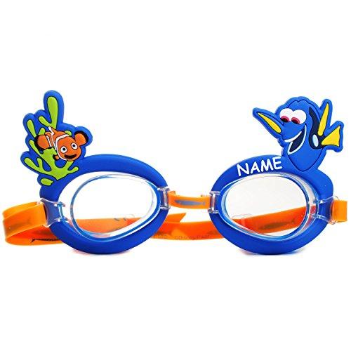 alles-meine.de GmbH 3-D Effekt _ Schwimmbrille / Chlorbrille / Taucherbrille -  Disney Findet Nemo - Fisch Dory  - incl. Name - Kinder von 2 bis 12 Jahre - verstellbar / Wasser..