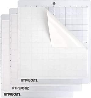 ATPWONZ Standardgrip Adhesive Cutting Mat, 3 PCS 12'' X 12'' Replacement Cameo Cutting Mat