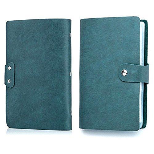 【THEBEST】カードケース 牛革 大容量 90枚収納 カードファイル 手帳型 マルチケース 名刺入れ カードケース 名刺入れ クレジットカードケース マリンブルー
