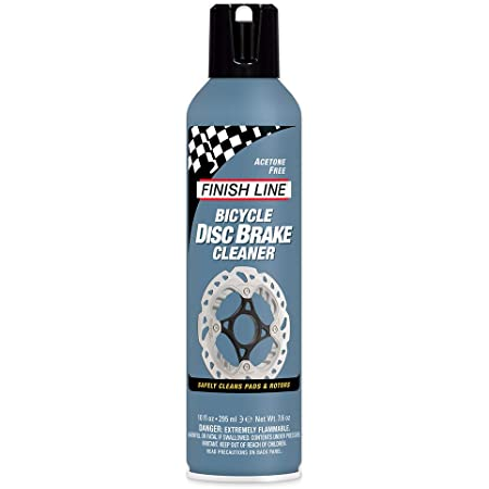Finish Line Bicycle Disc Brake Cleaner Aerosol, 10 oz, Gray