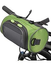 Lixada Fietsstuurtas, fietstas met waterdicht touchscreen, grote capaciteit, frametas voor fietsen vooraan fietspakket