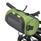 Lixada Bolsa para Manillar de Bicicleta Bolsa de Cubo con Pantalla Táctil Impermeable Gran Capacidad Bolsa de Almacenamiento Delantera para Bicicletas