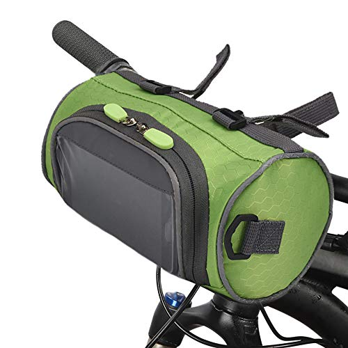 Lixada Bike Handlebar Bag,Waterproof Bike Basket Bicycle Front Storage Bag with Transparent Pouch Touch Screen and Removable Shoulder Strap for Road Bikes, Mountain Bikes and Motorcycles