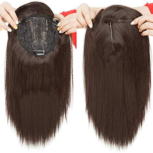 Synthetisch Haar Clip in Toupee Haarstukken Straight Topper Haar Met Pony voor Vrouwen 11 Inch