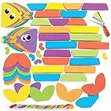 Baker Ross AT918 Kit Pesce ad Anelli, per progetti di artigianato artistico per bambini (confezione da 6), assortiti