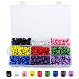 Image of Dreamtop 450 Pieces Hanger Size Markers Color-Coding Hanger Marker Tags 9 Sizes Set (XXS - 4XL) for 2-4mm Hanger Hook Diameter for Wire Hangers with Storage Box