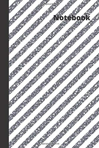 Notebook: small lined Glitter Stripes Notebook / Travel Journal to write in (6'' x 9'') 120 pages