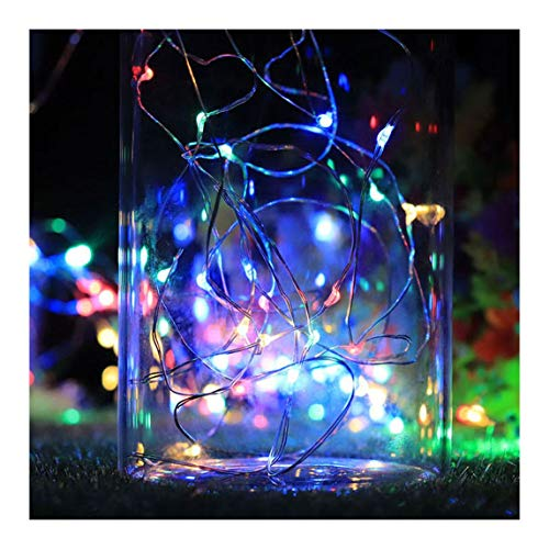 Coohole Solar Lights 1M x 10 LED Cork Wine Bottle Stopper Wire String Lights Fairy Lamps for Wedding Party Home Garden Bedroom Outdoor Indoor Wall Decorations(2PCS)