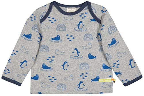 loud + proud Kinder-Unisex Shirt Druck Aus Bio Baumwolle, GOTS Zertifiziert Sweatshirt, Grau (Grey Gr), 80 (Herstellergröße: 74/80)