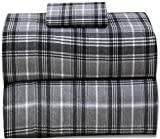 Ruvanti 100% Cotton Flannel Twin Sheets 3 Pcs Twin XL Sheets Set Deep Pocket-Warm-Super Soft-Breathable,Moisture Wicking Flannel Twin XL Kids Bedding Set Include Flat Sheet,Fitted Sheet & 1 Pillowcase