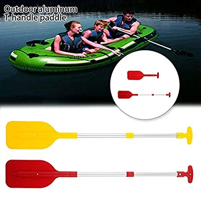 Boat Oars Telescopic Paddle Aluminum Kayak Paddles Adjustable Length Canoe Paddle with Anti-Slip Grips for Kayak, Canoe, Inflatable Boat Dinghy