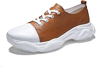 ZUAN Acrobatic Shoes for Men Sports Shoes Lace Up Style OX Leather Fashion Stitching Outsole Whippersnapper Thick Heel