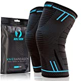 AGILE NOW Kniebandage [2er Set ] [M - XL] Premium inkl. Ultimativer Ratgeber E-Book die Kniebandage...