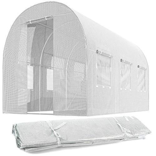 Plonos Ersatzfolie für Folientunnel Gartentunnel Gewächshaus Verschiedene Größen (2 x 3 m)
