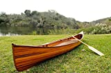 Wooden Boat USA Old Modern Handicrafts Real Canoe, 16-Feet