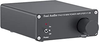 2 Channel Class D Mini Stereo Amplifier for Home Speakers 50W x2 + Power Supply TPA3116 - Fosi Audio V1.0B