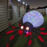 HOOJO 12 FT Halloween Inflatables Giant Red Spider...