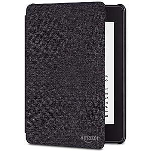 Funda Amazon de tela que protege del agua para Kindle Paperwhite (10.ª generación - modelo de 2018), Negro antracita