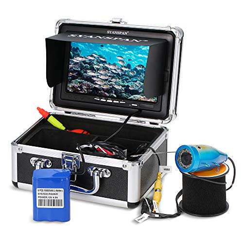 "Lixada1 Portable 7"" Inch Monitor 1000TVL Waterproof Underwater Fishing Camera Kit 24PCS Infrared IR LEDs Fish Finder for Ice Lake Boat Fishing"