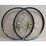 ZHTY Juego de Ruedas de Bicicleta MTB Disco de llanta de Doble Capa de 24 Pulgadas Rueda de Bicicleta de Freno de llanta 8-10 Velocidad 32H